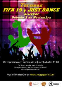 TORNEO FIFA 19 Y JUST DANCE ALMARAZ – SABADO 3 DE NOVIEMBRE-