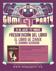 CONFERENCIA: LA LITERATURA FANTASTICA EN ESPAÑA. PRESENTACIÓN DEL LIBRO DE ZAREK,  EL DEMONIO GUARDIAN